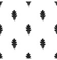 oak leaf icon in black style for web vector image vector image