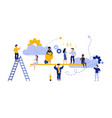 people teamwork idea business work balance vector image vector image