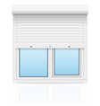 plastic window with rolling shutters 01 vector image vector image