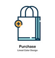 purchase lineal color icon vector image vector image