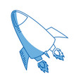 rocket launch rocket ship business launch product vector image vector image