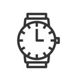 round handwatch with clock hand line style vector image