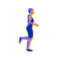 running lady silhouette vector image vector image