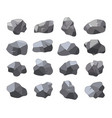 set cartoon rock stones vector image