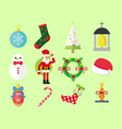 simple christmas graphic pack vector image
