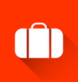 simple suitcase icon travel and holiday symbol vector image