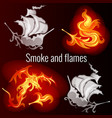 sketch for a poster on theme fire and smoke vector image