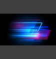 speed line motion background dynamic blue vector image vector image