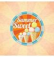 summer sweet ice cream retro background