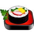 Sushi roll vector image vector image