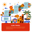tourist banner of cuban culture vector image vector image