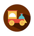 train plastic toy object for small children to vector image vector image
