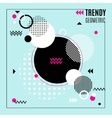 Trendy Geometric Composition vector image