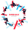 trendy sale background composition of geometric vector image