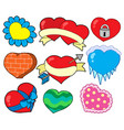 valentine hearts collection 2 vector image