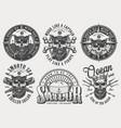vintage monochrome nautical labels set vector image