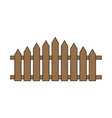 wooden fence simple design isolated on white vector image vector image
