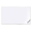 empty sheet of paper vector image