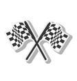 flag car race design isolated vector image