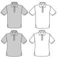 polo shirt set vector image