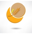 grain background with sun rays vector image