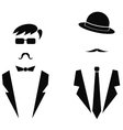 Men Icons Isolated vector image