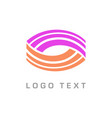 3 stripes oval half purple and orange disconnected vector image vector image