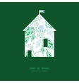 abstract blue and green leaves house vector image vector image