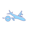 airplane flight plane stop transport travel icon vector image vector image