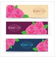 Banners for Women Day vector image vector image