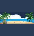 beach scene at night vector image vector image