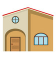 big house painted in brown vector image vector image