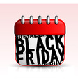 Black Friday Calendar icon vector image