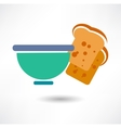 Bowl of white rice Detailed Icon Series of food vector image