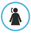 Calling Woman Flat Rounded Icon vector image vector image