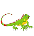 Cartoon cute lizard vector image vector image