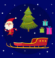 christmas collection of cartoon santa claus vector image