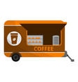 coffee trailer icon cartoon style vector image vector image