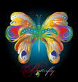 colorful textured 3d butterfly vector image
