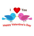 couple cute bird are in love vector image vector image