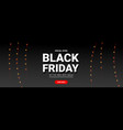 creative black friday sale background with star vector image