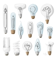 Creative idea lamps cartoon flat vector image vector image