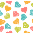 Cute seamless pattern with colorful hearts Stylish vector image vector image