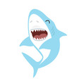 Cute shark with open mouth cartoon