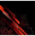 Dark red grunge tech background vector image vector image