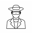 Detective icon outline style vector image vector image