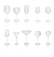 different kind of wine glasses vector image vector image
