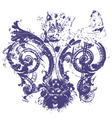 distressed royal fleur de lys vector image vector image
