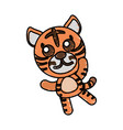 drawing tiger animal character vector image