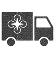 Drone Delivery Van Icon Rubber Stamp vector image vector image